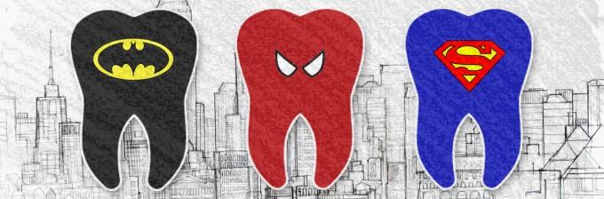 Denti e Superheroes: concept bizzarro per Studio Papini